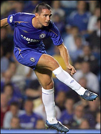 Frank Lampard scores for Chelsea with a brilliant free-kick