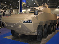 Patria armoured vehicle