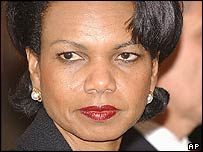 US Secretary of State Condoleezza Rice in Poland