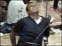 Man at scene of Baghdad bomb