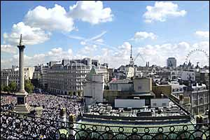 Mike Redfearn gets this great picture of London and the party in full swing from a roof top