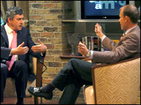 Andrew Marr with Gordon Brown
