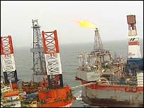 Oil platform off Sakhalin, BBC