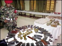 Weapons on show in Peshawar, Pakistan