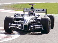 Mark Webber in action in the Williams