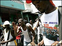 Supporters of gerard Jean-Juste in Port-au-Prince