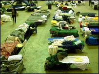 Centre for Hurricane Katrina refugees in Baton Rouge, Louisiana