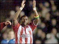 Southampton striker Henri Camara