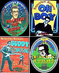 Montage of Bryncelyn Brewery beer titles