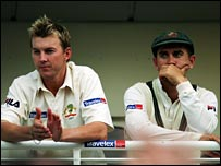 Brett Lee and Justin Langer