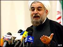 File photograph of Hassan Rohani