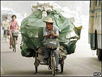 Trabajador chino en Beijing.
