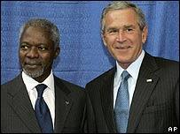 Annan y Bush