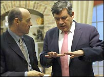 Kevin Spacey and Gordon Brown