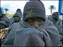 Illegal immigrants in the Canary Islands. Archive picture