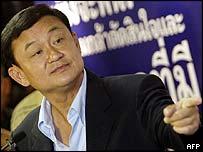 Thai Prime Minister Thaksin Shinawatra