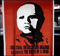 Afiche de Jesús como el Che Guevara