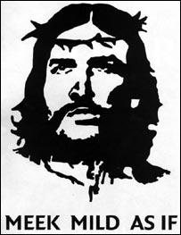 Jesús como Che Guevara con corona de espinas