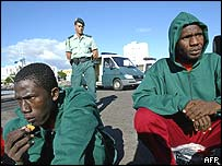 Immigrants detained in Spain