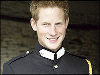 Official 21st birthday portrait of Prince Harry, photographed by Mario Testino