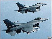 F-16 jet fighter aircraft