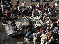Site of one of Baghdad's blasts