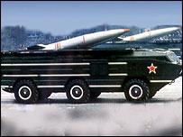 Soviet SS21 missile carrier