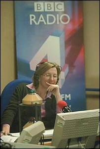 Sarah Montague in the Today studio
