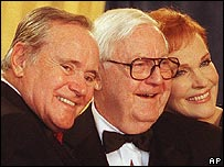 Robert Wise (middle) with Jack Lemmon and Julie Andrews
