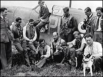 Squadron Leader Douglas Bader and pilots of number 242 Squadron