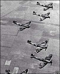 Number 19 Fighter Squadron Supermarine Spitfires