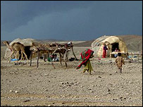 A nomadic Baloch settlement near in district Kolhu