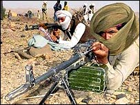 Marri tribesmen undergoing military training in a rebel camp