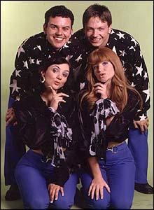 Tiffany, Bianca, Simon and Tony from EastEnders