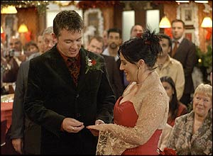 Alfie Moon and Kat Slater in EastEnders