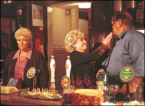 Pat, Peggy and Frank in EastEnders