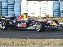 David Coulthard in the new Red Bull