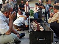 Victim of a roadside bombing in Kirkuk