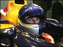 Christian Klien in the new RB1 on Monday