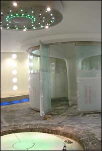 Steam room at Bath's Thermal Spa