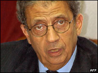 عمرو موسى الأمين العام للجامعة العربية