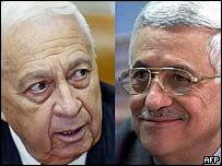 Ariel Sharon y Mahmoud Abbas