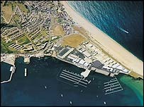 The sailing centre at Weymouth