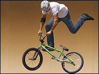 BMX star Scotty Cranmer in action
