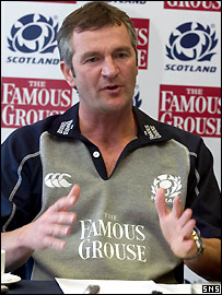 New Scotland coach Frank Hadden