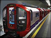 Computer generated image of the new Victoria Line trains