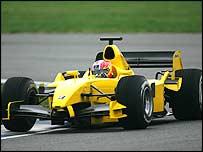 Tiago Monteiro in action at Silverstone