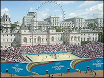 How Horse Guards Parade could look at a London Olympics