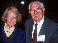 Lord Callaghan and his wife Audrey