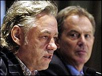 Bob Geldof and Tony Blair